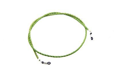 CORRENTE CORDÃO COURO Modelo: Cordão Trançado cor Abacate