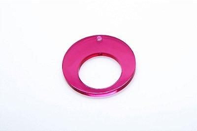 Pingente ACRÍLICO FORMAS Modelo: CÍRCULO Cor Pink