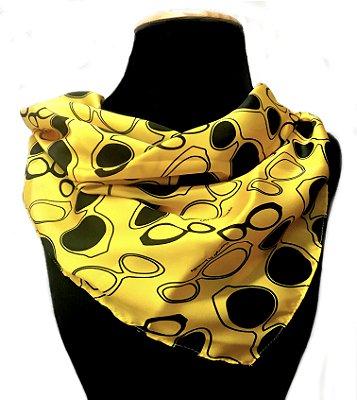 LENÇO DE PESCOÇO ou DE CABEÇA Modelo: ELC cor Amarelo