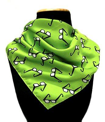 LENÇO DE PESCOÇO ou DE CABEÇA Modelo: STRACCIATTA cor Verde Limão