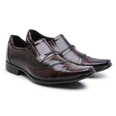 Sapato Social Masculino Em Couro Nobre Com Trice Lateral