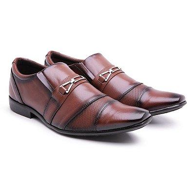 Sapato social  lazer Veniz Marrom-preto