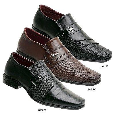 kit 3 pares sapato social Elegance