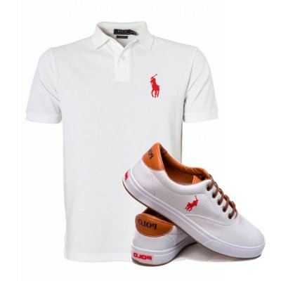 Kit Sapatenis e Camisa Polo Branca