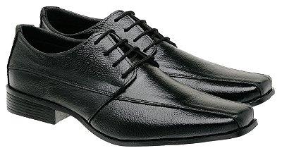 Sapato Social Masculino Em Couro De Cadarço