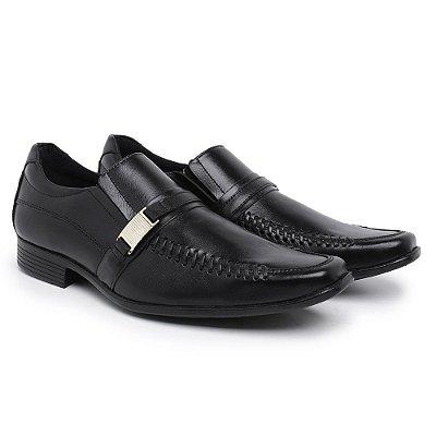 Sapato social confort couro legitimo nobre preto
