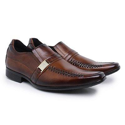 Sapato social confort couro legitimo nobre café