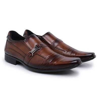 Sapato social confort trice couro legitimo nobre café