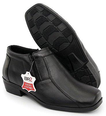 Sapato anatômico confort anti stress de couro estilo bota