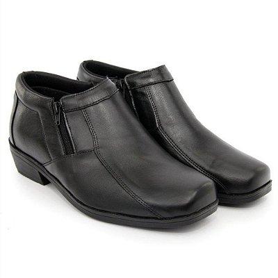 Sapato Anatômico Masculino Confort Anti Stress De Couro Legitimo Estilo Bota
