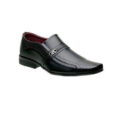 Sapato Social Masculino Italiano Preto liso