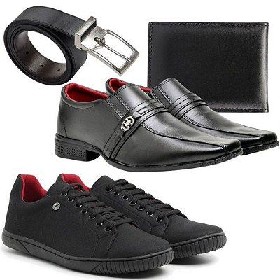kit Sapato social e sapatenis Casual Masculino + carteira e cinto