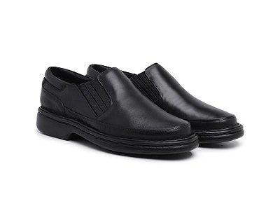 Sapato Ortopédico Confort  Anti- stress Masculino Preto