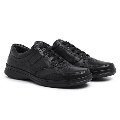 Sapato Masculino Conforto Anti- Stress De Calce Fácil Preto