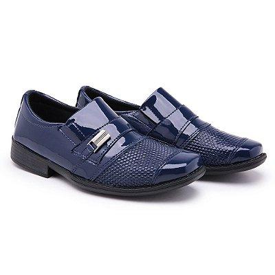 Sapato Social Masculino Infantil Azul
