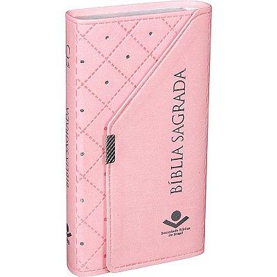 Bíblia Sagrada Carteira Rosa Claro