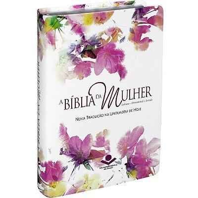 A BÍBLIA DA  MULHER  C/ÍNDICE DIGITAL  AQUARELA