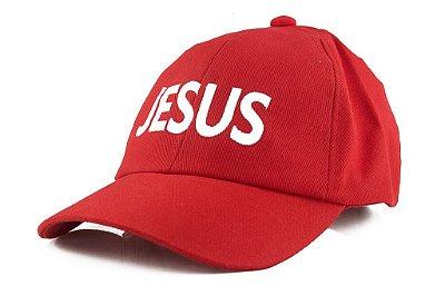 Boné Bordado Jesus Vermelho