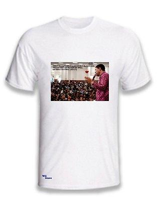 Camiseta Personalizada Apóstolo com a Rosa