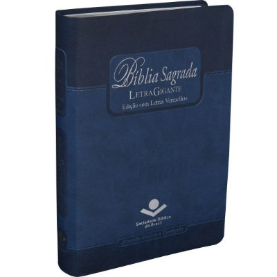 BÍBLIA SAGRADA LETRA GIGANTE C/ ÍNDICE DIGITAL  AZUL  -EDIÇÃO COM LETRAS VERMELHAS