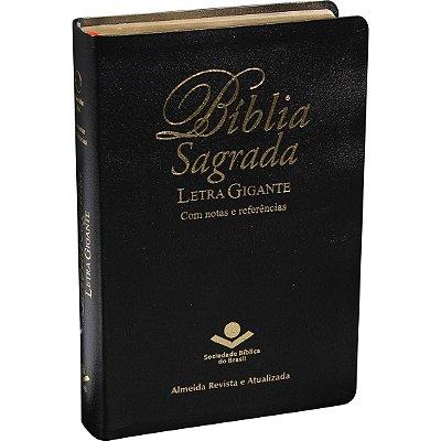BÍBLIA SAGRADA LETRA GIGANTE - Notas e Referências Preta