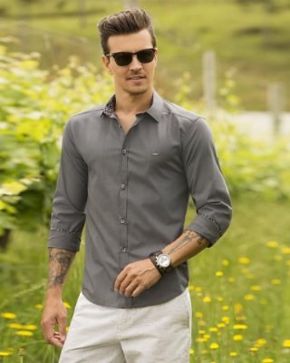 Camisa ML Baumgarten Detalhe Gola BGT