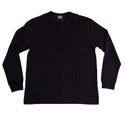 Camiseta Manga Longa Highstil Gola Redonda Vinho