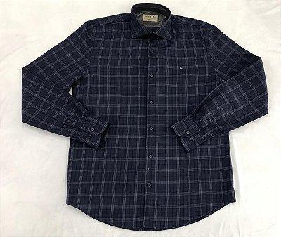 Camisa Manga Longa Highstil Sport Slim Xadrez
