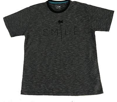 Camiseta Manga Curta Ogochi Slim Smile Listras