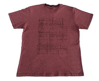 Camiseta Manga Curta Casual Slim Ogochi Rosa