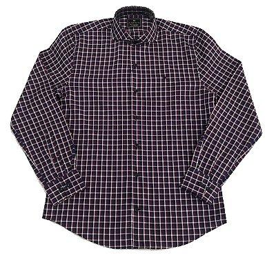 Camisa Manga Longa Highstil Xadrez Premium Tailored Fit