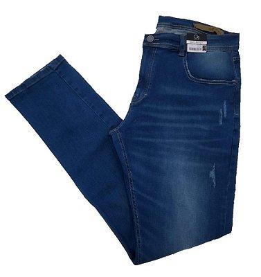 Calça Jeans Skinny Ogochi Com Detalhes