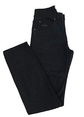 Calça Jeans Pierre Cardin Detalhada Com Viscose Tradicional