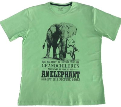 Camiseta Ogochi Cult Green Elephant