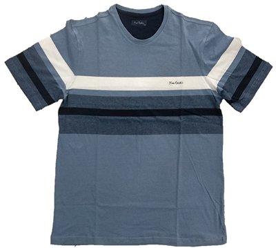 Camiseta Pierre Cardin Listrada Azul