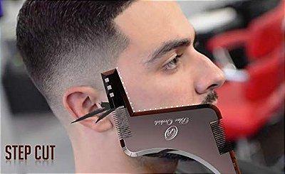 Par Alinhador Pente Plastico Barba Bigode Costeleta