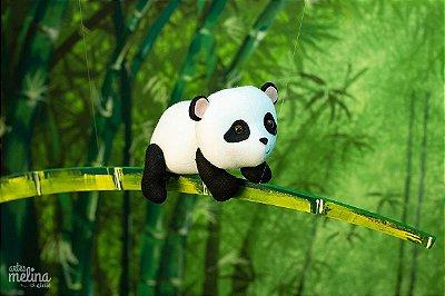 Panda sobre Bambu para Pendurar
