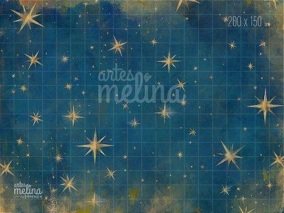 Fundo Fotográfico Estrelas Douradas