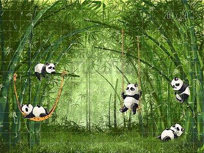 Fundo Fotográfico Pandas
