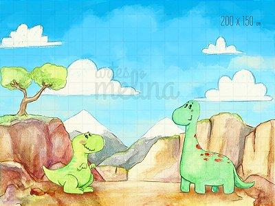 Fundo Fotográfico Dinossauros