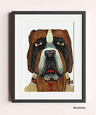 """Pinturas Originais de """"Vida Cachorra"""" 30x20 cm. PT.1"""
