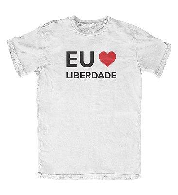 Camiseta Ideias Radicais Eu Amo Liberdade Branca