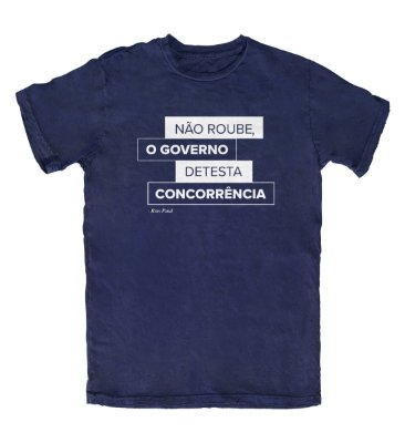 Camiseta Governo Detesta Concorrência Azul Marinho