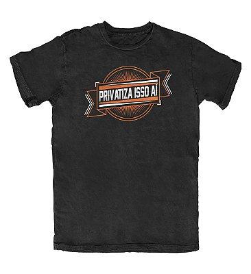 Camiseta Ideias Radicais Privatiza Isso Aí Preta