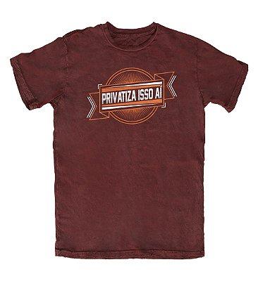 Camiseta Ideias Radicais Privatiza Isso Aí Vinho
