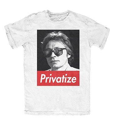 Camiseta Ideias Radicais Privatize Branca