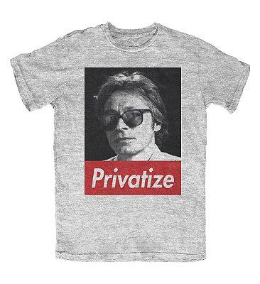 Camiseta Privatize Cinza Mescla