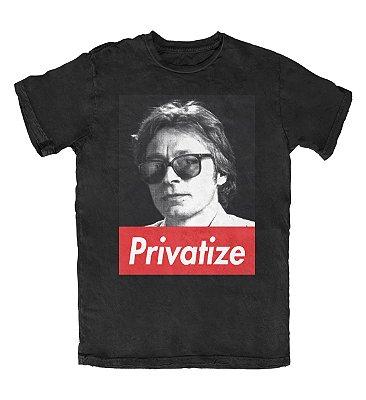 Camiseta Ideias Radicais Privatize Preta