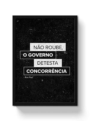 Poster Não Roube do Governo