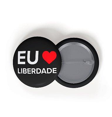 Button Eu Amo Liberdade